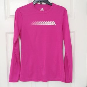 Adidas Pink Sport Climalite Long Sleeve Top